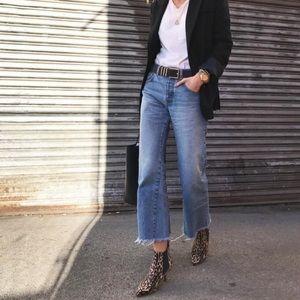 Anine Bing Stella Faded Wash Denim Jeans Size 28